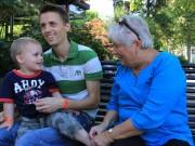 Linus, Anders & mormor