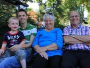 Linus, Anders, mormor & morfar