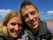 Us on a sunny day in Cuzco
