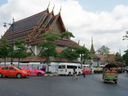Bangkok temple and tuk-tuk